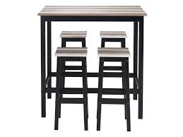 Table haute + 4 tabourets TURNER - Vente de Ensemble table et chaise ...