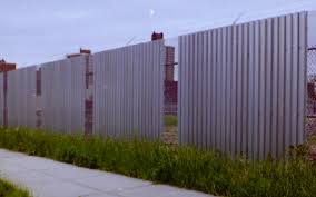 solid metal fence. Expanded Metal And Corrugated Steel Deck Combo 10\u0027 Fence With Barded Wire. (Queens Solid G