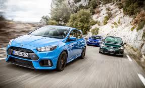 2016 Ford Focus RS vs. Subaru WRX STI, VW Golf R | Comparison Test ...