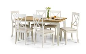 Oxford Solid Oak Dining Table With 6 Faux Leather Chairs