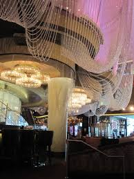 chandelier bar next to the henry