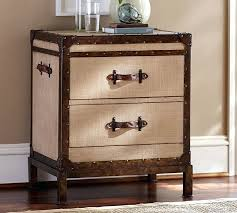 trunk nightstand pottery barn with regard to bedside tables decor 0 chest of drawers small vintage