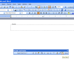 Office Word Format Format Header In Microsoft Word 2003 Microsoft Office Support