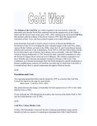 essay plan which of the following marked the start of the cold war  the origins of the cold war