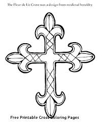 Free Printable Cross Coloring Pages Betterfor