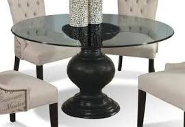 Round glass tables and chairs Transparent 60 Wayside Furniture Cmi Serena 60