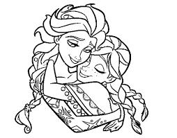 Reine Des Neiges Anna Et Elsa Gros Plan Coloriage La Reine Des