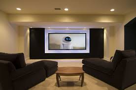 Decorations:Amazing Living Room Basement Designs For Small Space Ideas  Media Room Basement With Modern