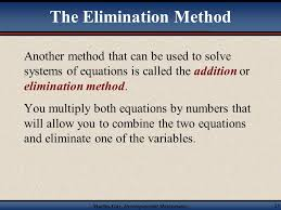 systems of equations elimination method worksheet page 89 jennarocca