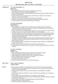 Mill Machinist Resume Samples Velvet Jobs
