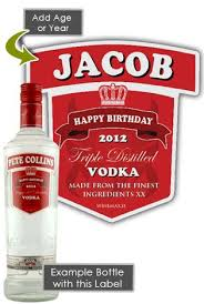 smirnoff vodka personalised bottle gift age 70cl