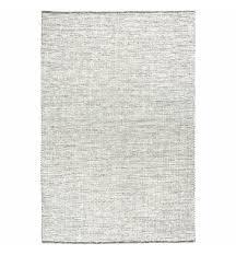 black white felted wool scandi rug