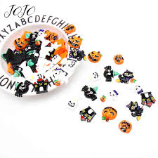 <b>JOJO BOWS</b> 10pcs Cloth Resin Patches For Needlework Halloween ...