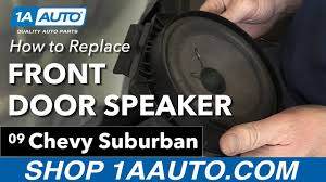 How to Install Replace Front Door Speakers 2007-13 Chevy Suburban ...