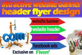 Flyer Header I Will Do Attractive Website Banner Header Flyer Design