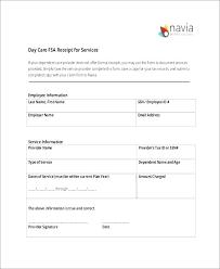Child Care Receipt Fsa Receipt Template Mrstefanik Info