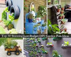 30 stunning low budget diy garden pots containers