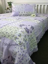 Purple Quilts And Coverlets Purple Quilts And Comforters Purple ... & Purple Lavender Lilac Comforters Soft Lilac Lavender Roses Ruffled Quilted  Bedspread Quilt 2pc Set King Purple ... Adamdwight.com