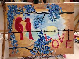 painting with a twist love birds painting