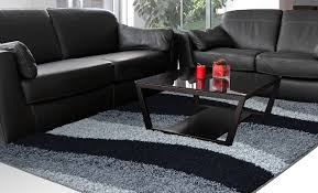 home dynamix area rugs synergy shag rug s1005 480 blackgray contemporary rugs area rugs by style free shipping at powersellerusacom black shag rug