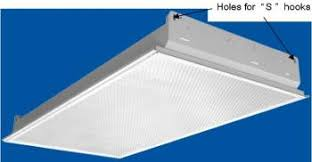 lay in fluorescent light fixture with holes for q s q