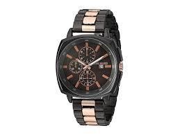 Steve Madden Contemporary Design Link Watch SMW248 (Black ...