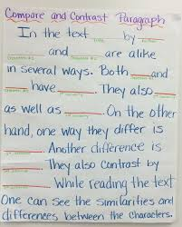best compare and contrast ideas compare and compare and contrast paragraph frame