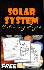 Solar System Coloring Pages 123 Homeschool 4 Me