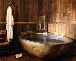wooden bathtub interior