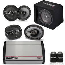 speakers in box. kicker 40kx8005 5-channel amplifier, a pair of ks 6.5\ speakers in box