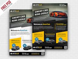 Freebie Cars Rental Flyer Free Psd Template By Psd