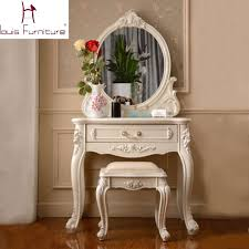 Charming Antique Vanity Table With Mirror And Bench with Victorian