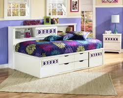 Zayley Twin Bed w/ Bookcase Headboard & Storage - Kids Beds ...