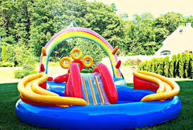 inflatable inground pool slide. Backyard Inflatable Pool Slide Inground