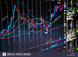 Stock Market Charts And Numbers Displayed On Trading Screen