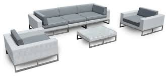 outdoor patio furniture 6 piece weather wicker sofa sectional set