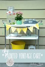 vintage metal cart makeover see how to transform an eyesore into a thing of beauty