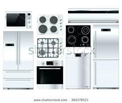 stove and refrigerator. full image for refrigerator stove and microwave set on same e