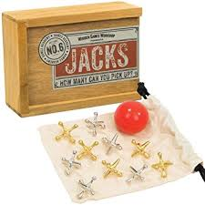 Old Fashioned Wooden Games Amazon OldFashioned Classic Jacks Game With Brass And Nickel 99