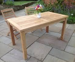 laurel teak garden dining table