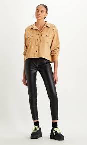 720 High Rise <b>Faux Leather</b> Ankle Women's Jeans - Black | <b>Levi's</b> ...