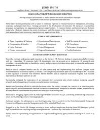 Hr Director Resume Simple Director Of Human Resources Resume