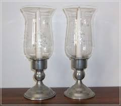 large glass hurricane candle holders