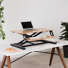 ... Cooper Standing Desk Converter - Bamboo Standing and Sitting ...