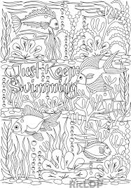 Small Picture Just Keep Swimming under the sea design coloring page words