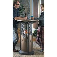 outdoor leisure bistro table patio heater ahh chill chasing warmth and friendly conversation without gooseps