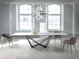 modern white marble dining table with black steel base by in white marble dining table designs