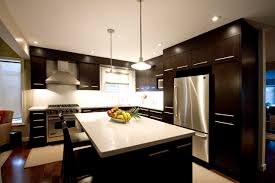 modern brown kitchen design