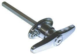 garage door handleIdeal Security Inc SKT9303 Keyed T Garage Door Lock Chrome