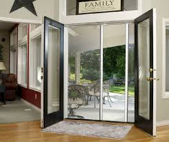image of stylish laminated glass storm door